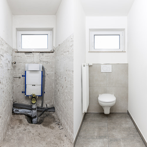 Montage Unterputzspülkasten für das Wand-WC