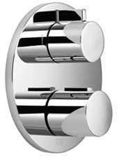 Dornbracht Fertigmontageset für UP-Thermostat, Zweiwege-Mengenregulierung, Chrom