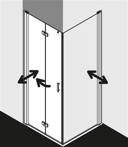 Pendel-Falttür Diga für Seitenwand